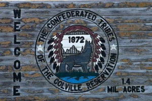 Sign for Colville reservation